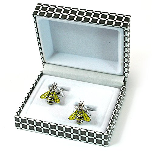 Bee Boutons de manchette - Cadeau Homme de style classique