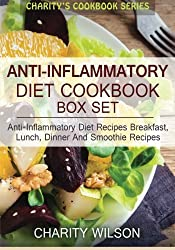 Anti-Inflammatory Diet Box Set: Anti-Inflammatory Diet Recipes Breakfast, Lunch, Dinner And Smoothie Recipes by Charity Wilson (2015-04-21)