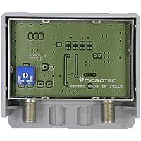Amplificatore da palo, un ingresso logaritmico (VHF+UHF), guadagno 32 dB, per zone con segnale debole