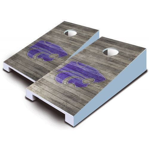 Kansas State Wildcats Tabletop Cornhole Boards Distressed Wood Bean Bag Tailgate Toss Game Mini Miniature NCAA by AJJ Cornhole (Toss Bag Bean Boards)