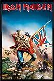1art1 Iron Maiden Poster und Kunststoff-Rahmen - Eddie The Trooper (91 x 61cm)