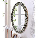 999Store MDF Tile Silver Finish Wall Mirror