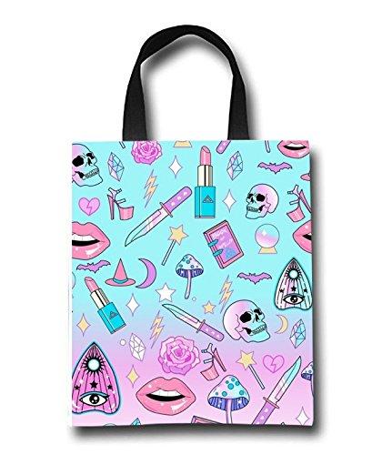 Damen Tasche; Wiederverwendbare Einkaufstasche Handtasche Laika Dog Print der Space Stil, Tasche für die individuelle, Girly Goth15, Einheitsgröße