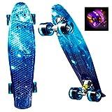 WeSkate Mini Cruiser Skateboard Complete -22 inch Retro Plastic Skate Board, for Adult