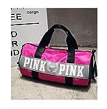Beauty Smooth Design, leichte, wasserabweisende, faltbare Nylon-Schultertasche oder Allzwecktasche als Turnbeutel und fürs Fitnessstudio, in pink., rose