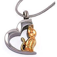 Urns UK–Urna cenizas colgante joyas con cadena de acero, diseño de Chelsea 78B