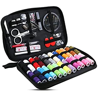 Annstory Practical Travel Sewing Kit Bundle, Packed with Bigger Spools of Thread, Scissors and Easy to Thread Needles, Perfect Starter, Beginners, Adults