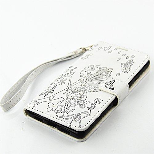 für Smartphone P9 Lite Hülle,Hochwertige Kunst-Leder-Hülle mit Magnetverschluss Flip Cover Tasche Leder [Kartenfächer] Schutzhülle Lederbrieftasche Executive Design +Staubstecker (7AA) 1