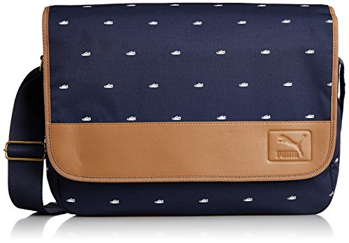 Puma Grade Messenger 073075 02 Unisex - Erwachsene Kuriertasche / Messenger Bag / Umhängetasche Blau (OneSize, Blau)