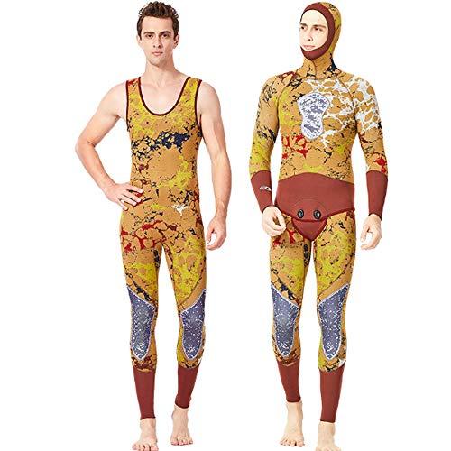 Herren Neoprenanzüge Mens 3MM Camo Neopren Tauchanzug Zweiteiler Sport Skin zum Schnorcheln Schwimmen Kajak Kanufahren Ironman,M