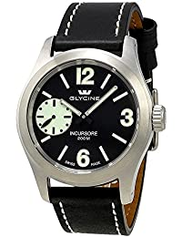 Glycine Incursore Manual Wind Stainless Steel Mens Swiss Strap Watch 3873.19SL LB9B