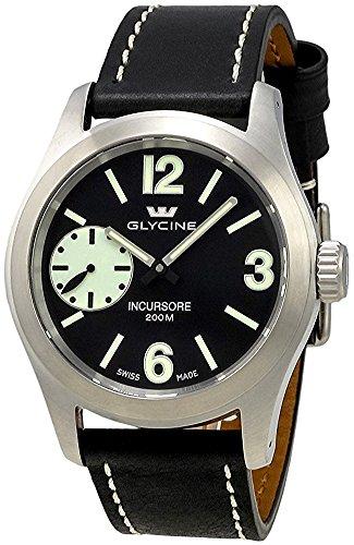 Glycine Incursore Manual Wind Stainless Steel Mens Swiss Strap Watch 3873.19SL LB9B