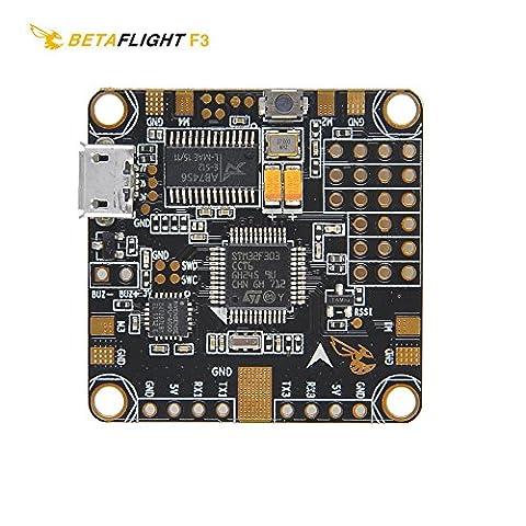 LITEBEE Betaflight D-Shot Contrôleur de vol F3 + OSD + BEC 5V/3A Flight Controller MPU6000 Gyro/ACC Sensor , Current sensor , 6 Layer PCB , SD Card Adapter for FPV Racing RC Drone
