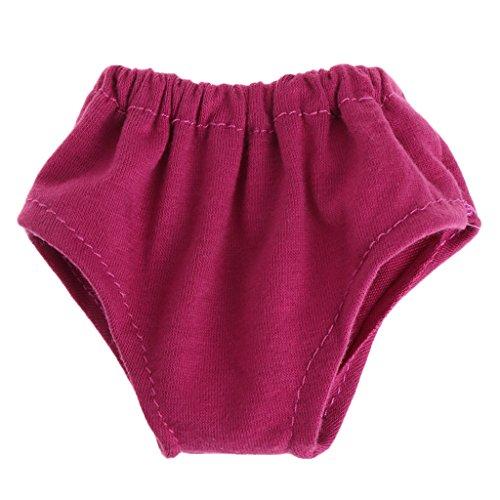 Lamdoo Unterhosen Unterwäsche Miederteil für 18American Girl Puppen Kleidung Kleid bis Cute, Stoff, Rosarot, 9x9cm