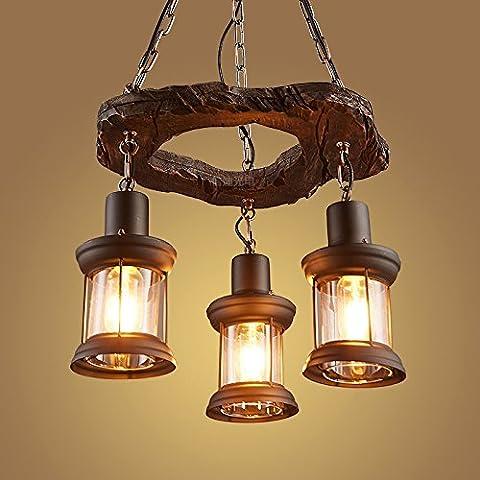 LJSYYR Il nero di seppia Ristorante lampadario lampada E27 Luce