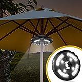 ikalula Lampada per Ombrellone, 24 LED Esterno Illuminazione Wireless Ombrellone Luci per Giardino, Campeggio, Tende e altri uso esterno (non incluse batterie)