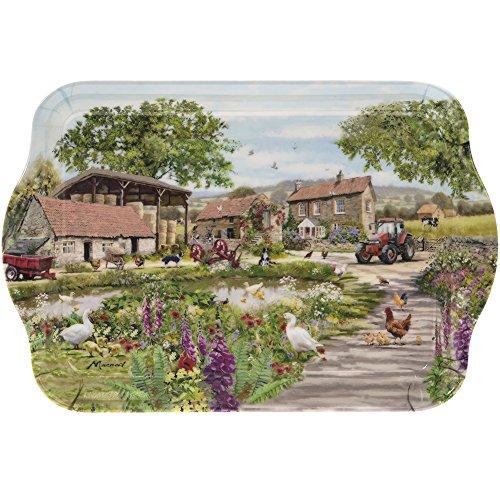 Petit plateau Leonardo Collection - Illustré avec scène de cour de ferme