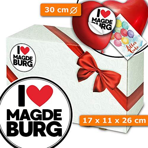 I love Magdeburg - Geschenkverpackung - Magdeburg Geschenk Paar