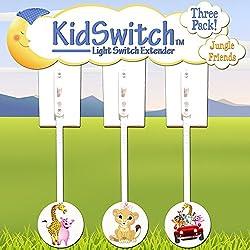 Kidswitch Light Switch Extender My Jungle Friends - 3 pack