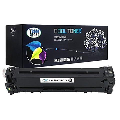 Cool Toner Compatible toner pour CF210X cartouche de toner compatible pour HP LaserJet Pro 200 color M251n M251nw MFP M276n M276nw Imprimante,Noir, 2400 feuilles,Lot de 1