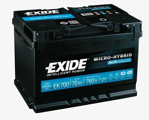 Exide EK700& Nbsp; AGM batteria auto