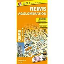 Plan de ville de Reims agglomération - Echelle : 1/12 000