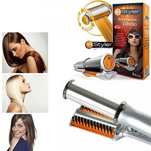 081 store spazzola piastra rotante per capelli lisci ricci arriccia stira in ceramica