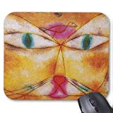 Cat and Bird - Abstract Art - Paul Klee Mouse Pad 18×22 cm