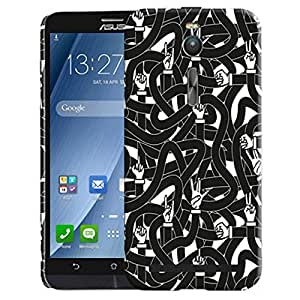 Theskinmantra Pattern 198 back cover for Asus Zenfone 2