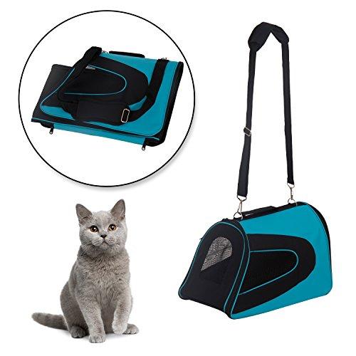 Transportin Perro Gato Mascotas Bolsa de Viaje Asas y Correa ajustable