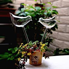 Di Grazia Glass Birds Shape Self Watering Device Automatic Garden Sprinklers Drip Watering Bulbs Potted Plant Irrigation Controller - 1pc/Set