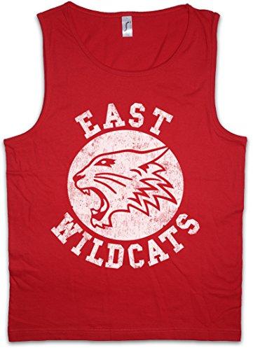 East Wildcats Herren Männer Tank Top Training Shirt - Größen S - (Cats Musical Kostüm Machen)