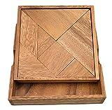Tangram, das älteste Legespiel der Welt, Holz, Legespiel, Holzspiel, Denkspiel, Knobelspiel, Geduldspiel aus Holz