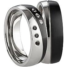 Partnerringe schwarz edelstahl  Suchergebnis auf Amazon.de für: Verlobungsringe Schwarz