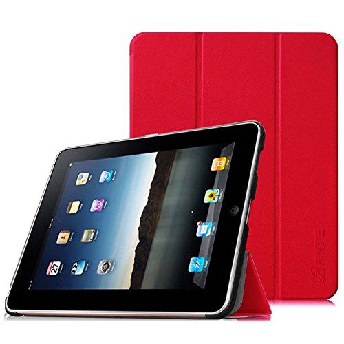 Fintie Apple iPad 1 Hülle Case - Ultra-schlank superleicht Ständer SlimShell Cover Schutzhülle Etui Tasche für iPad 1st Generation, Rot (Ipad 1. Generation 16)