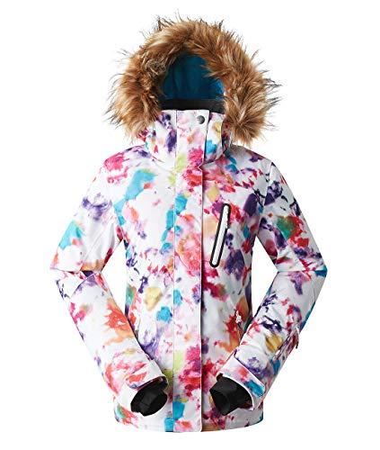 APTRO Damen Skijacke warm Jacke gefüttert Winter Jacke Regenjacke Mehrfarbig 1802 M
