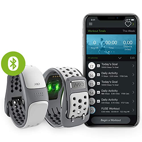 MIO Link Activity Tracker mit Herzfrequenzmessung - Ohne Brustgurt - Einstellbare Herzfrequenzzonen - EKG-genaues Fitnessarmband mit Smartphone App - 12,1 - 17,5 cm Handgelenkumfang - Artic Grau -