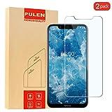 [2 Pack] Nokia 8.1 Protecteur D'écran, PULEN Dureté 9H Verre Trempé écran Protecteur [Easy-Install] [Sans Bulles D'air] 2.5D Ultra Anti Rayures Screen Protector pour Nokia 8.1