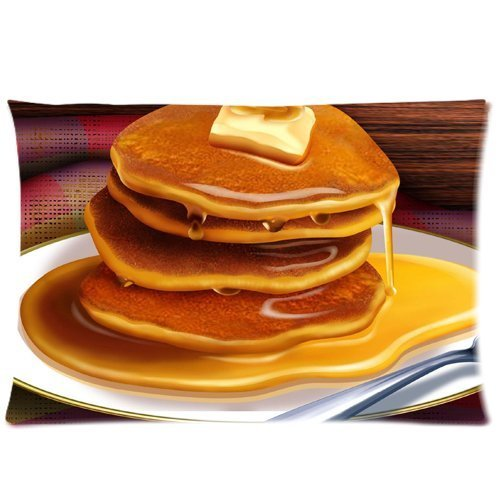 Lepilo Pan Cakes Pancake Pillowcases Custom Pillow Case Cushion Cover 20 X 30 Inch Two Sides Insert Pan Cover