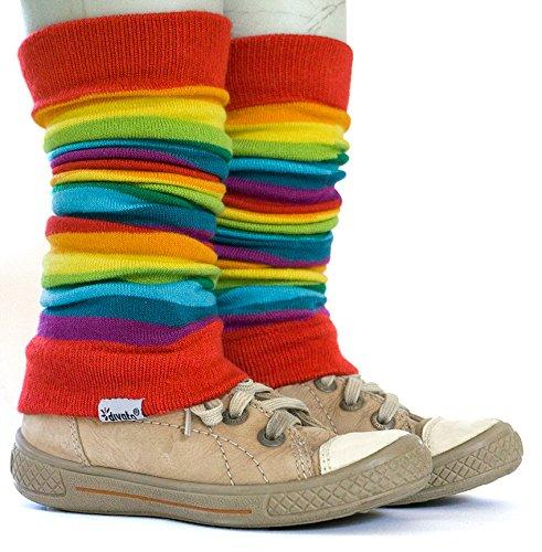 ❤ divata Stulpen für Babys und Kinder - Kinderstulpen, Babystulpen, Beinlinge für Mädchen und Jungs (Regenbogen)
