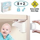 Avantina Magnetische Kindersicherung Schrank und Schubladen - 8 x Schranksicherung – unsichtbare Kindersicherung - Kinder-sicherung für Küchen