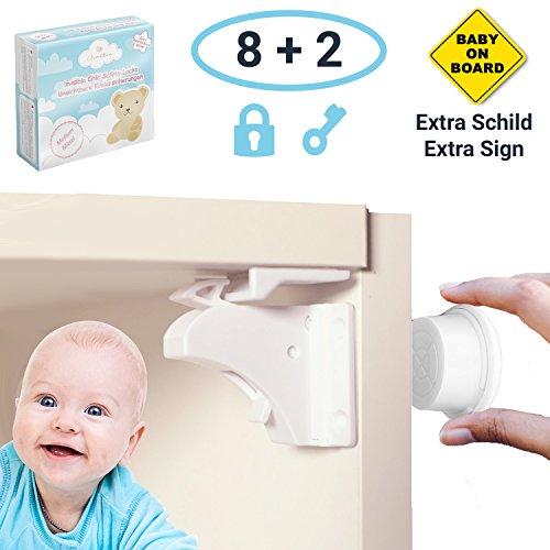 Avantina® Magnetische Kindersicherung Schrank und Schubladen - 8 x Schranksicherung – unsichtbare Kindersicherung - Kinder-sicherung für Küchen