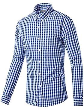 Herren Trachtenhemd Oktoberfest Hemd Slim Fit kariert in 2 Farben Gr. XS-XL
