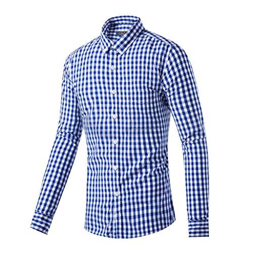 Preisvergleich Produktbild Fuman Trachtenhemd kariert in 2 Farben Gr. XS-XL