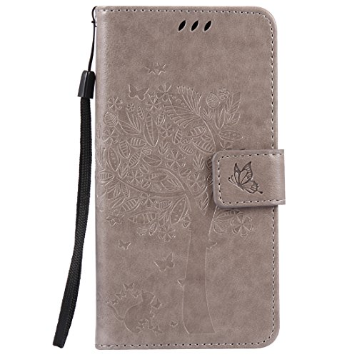 Nancen Tasche Hülle für Sony Xperia X Flip Schutzhülle Zubehör Lederhülle mit Silikon Back Cover PU Leder Handytasche im Bookstyle Stand Funktion Kartenfächer Magnet Etui Schale