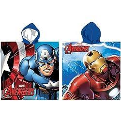MARVEL Poncho toalla Los Vengadores Capitan America Iron Man