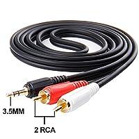 3 RCA CABLE,Oxsubor(TM) 3.5mm 1/8