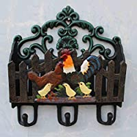 CSH Cast Iron, Painted Letter Inserted Magazine Inserts Newspaper Inserts Debris Storage Wrought Iron Hook Garden Decorations Chicken Family Retro Syle