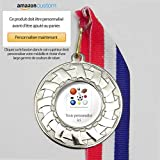 100 x Médailles Sportives Personnalisées sur Rubans (Médailles d'argent)...