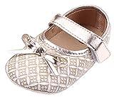EOZY Babyschhe Mädchen Festlich Schuhe Lauflernschuhe Taufschuhe Gold Fußlänge 13cm